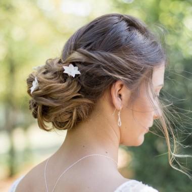"""""""Amelina"""" Boucles d'oreilles de mariée avec pendants en cristal"""