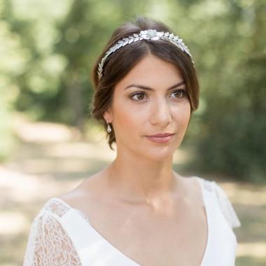 """""""Ornella"""" Boucles d'oreilles de mariée avec goutte cristal"""