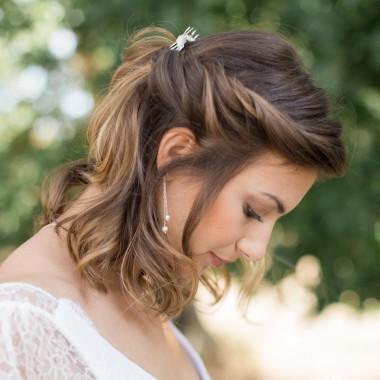 """""""Rosa"""" Boucles d'oreilles de mariée pendantes et perles nacrées"""