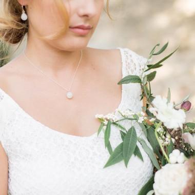 """""""Luna"""" Collier de mariée en argent avec pendentif en pierre de lune"""