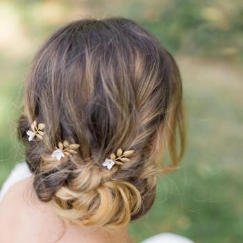 """""""Paola"""" Pics pour coiffure de mariée feuilles et fleurs délicates"""
