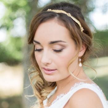 """Calista"" Boucles d'oreilles de mariée pendentifs sertis zirconium"