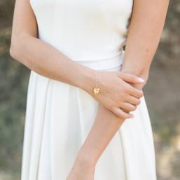 """""""Folia"""" Bracelet avec jolie feuille pendante"""