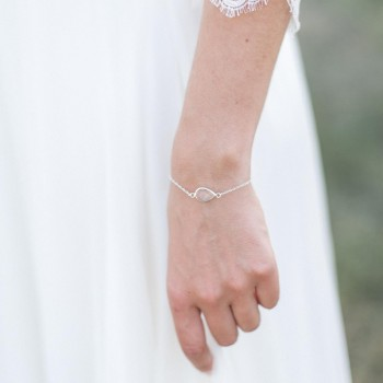"""""""Donna"""" Bracelet de mariée avec serti en cristal"""