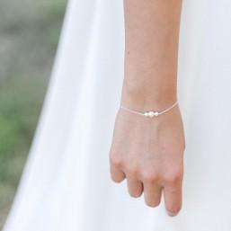 """""""Enola"""" Bracelet de mariée avec perles nacrées"""
