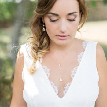 """""""Calista"""" Joli collier précieux avec cristaux en argent et zirconium"""