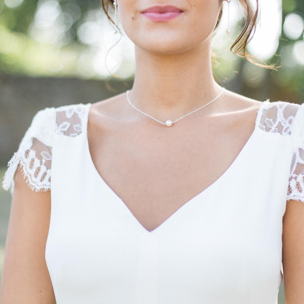 collier perle dos nu mariage