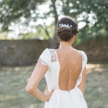"""""""Amalia"""" Collier bijou de dos avec perles diamantées"""