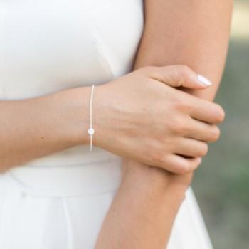 """""""Calista"""" Bracelet de mariée avec serti en zirconium"""
