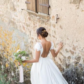 """""""Talia"""" Peigne de mariée avec estampes feuilles et fleurs"""