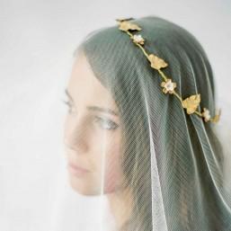 """""""Maelya"""" Couronne de mariée romantique feuilles et fleurs"""