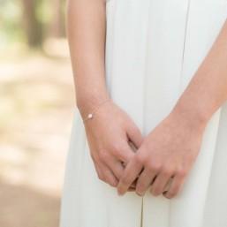 """""""Lidia"""" Bracelet de mariée avec perle d'eau douce"""