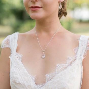 """""""Asteria"""" Collier de mariée précieux avec pendentif en cristal"""