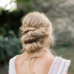"""""""Colina"""" Ornement pour coiffure de mariée avec strass et cristaux de roche"""