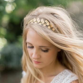 """""""Florina"""" Couronne pour coiffure de mariée feuilles de lierre"""