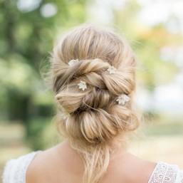 """""""Matilda"""" Pics fleurs de porcelaine pour coiffure de mariée"""