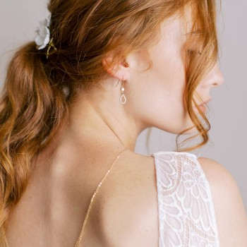 """""""Anniela"""" Boucles d'oreilles précieuses avec pendentifs en zircon"""