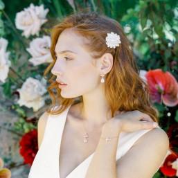 """""""Pamina"""" Boucles d'oreilles de mariée précieuses avec pendentifs en cristal"""