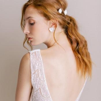 """""""Lola"""" Boucles d'oreilles de mariée jolis fleurs de coquelicots"""