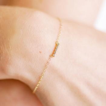 """""""Anniela"""" Bracelet de mariée petit intercalaire en zircon"""