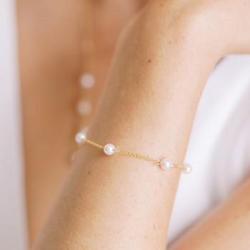 """""""Perlina"""" Bracelet de mariée avec perles nacrées"""