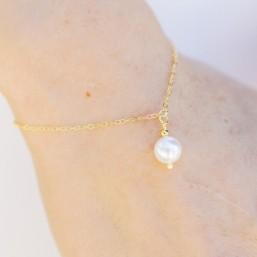 """Navia"" Bracelet de mariée avec pendentif perle nacrée"
