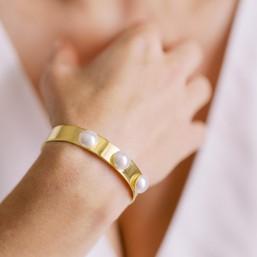 """""""Eloa"""" Bracelet avec cabochons nacrés"""