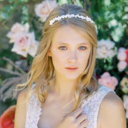 """""""Malina"""" Couronne pour coiffure de mariée délicates fleurs de porcelaine"""