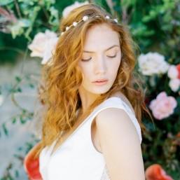 """""""Perla"""" Headband pour coiffure de mariée avec perles nacrées"""