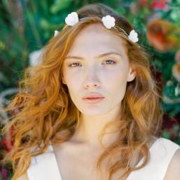 """""""Tara"""" Couronne de mariée jolis fleurs de coquelicots"""