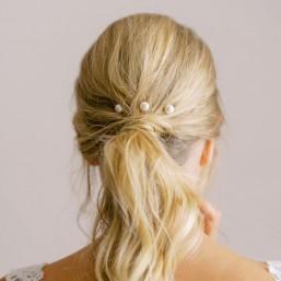 """""""Perla"""" Barrettes pour coiffure de mariée cabochons perles nacrées"""
