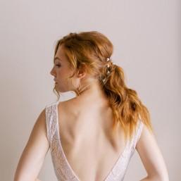 """""""Rosalina"""" Pics pour coiffure de mariée jolies roses en porcelaine"""