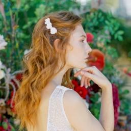 """Joa"" Peigne de mariée jolies fleurs de coquelicots"