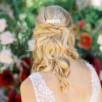 """""""Briana"""" Peigne de mariée en perles d'eau douce"""