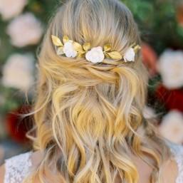 """""""Adelia"""" Trio de peignes fleurs de coquelicots pour coiffure de mariée"""