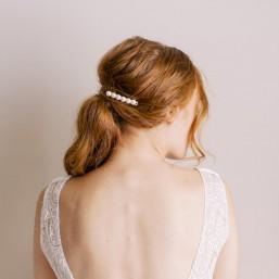 """""""Olivia"""" Barrette pour coiffure de mariée cabochons perles nacrées"""
