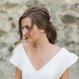 """""""Bianca"""" Boucles d'oreilles de mariée avec pendentifs strass et zircon"""