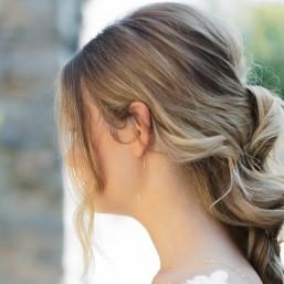 """Fiorina"" Boucles d'oreilles de mariée pendantes petite fleur zircon"