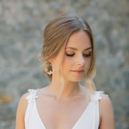 """""""Fabia"""" Boucles d'oreilles de mariée joli feuillage et perles nacrées"""