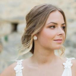 """Rosina"" Boucles d'oreilles de mariée jolies roses"