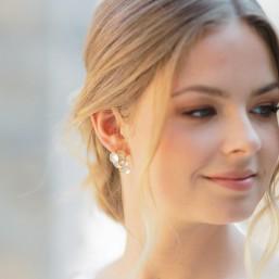 """""""Nalia"""" Boucles d'oreilles de mariée grappe de cercles"""