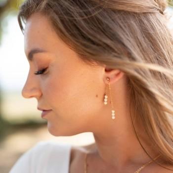 """""""Clelia"""" Boucles d'oreilles pendantes jolies perles en céramique"""