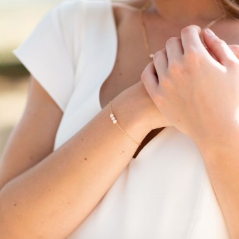 """""""Clelia"""" Bracelet de mariée jolies perles en céramique"""