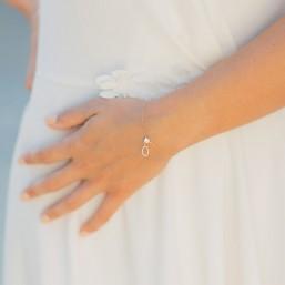 """Olga"" Bracelet de mariée avec pendentifs en zircon"