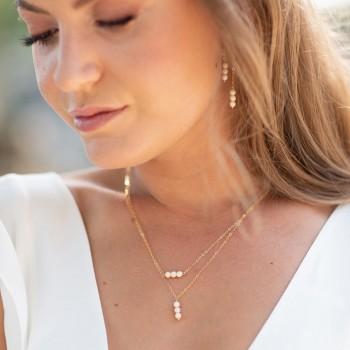 """""""Clelia"""" Collier de mariée avec jolies perles en céramique"""