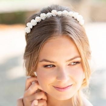 """""""Betina"""" Couronne de mariée avec jolies fleurs de pivoine"""