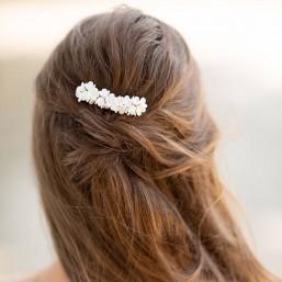 """""""Odelia"""" Peigne de mariée avec fleurs de lilas et boutons de rose"""