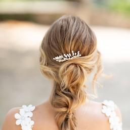 """""""Mirella"""" Peigne de mariée avec jolis pistils en porcelaine"""