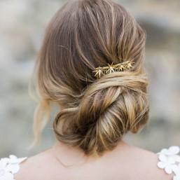 """""""Stellina"""" Peigne de mariée avec jolies étoiles en laiton et perles en céramique"""