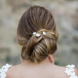 """""""Rosina"""" Pics pour coiffure de mariée jolies roses en porcelaine"""